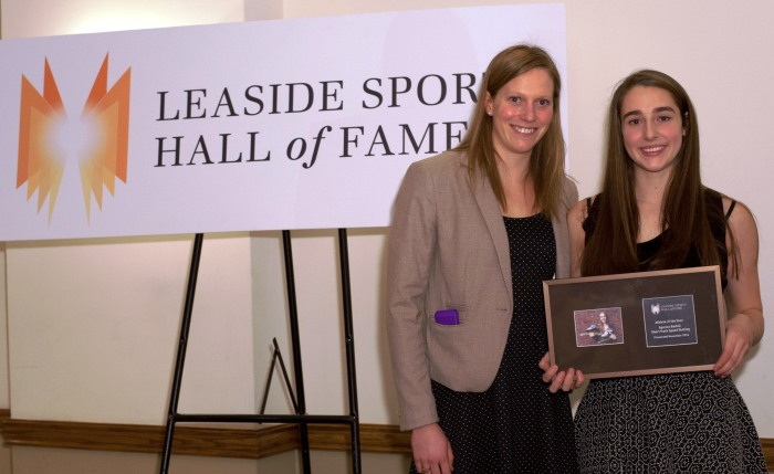 2013 and 2014 athletes of the year olympic swimmer, Martha Mcccabe and speed skater Ayanna Badali