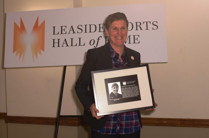 2014 Hall of Fame inductee Christine Pellerin