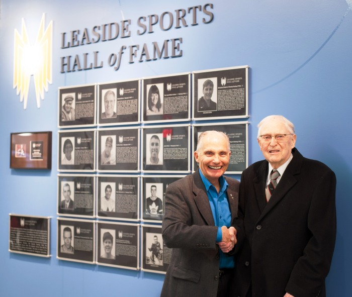 2014 Inductee Dr. Sidney Soanes and Canadian skating legend Donald Jackson