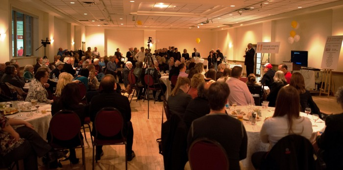 The Leaside Sports Hall of Fame holds its annual Induction Ceremony and Community Reception each November in the William Lea Room at Leaside Gardens